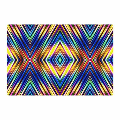 Dawid Roc Modern Tribal Blue/Yellow Area Rug Rug Size: 4 x 6
