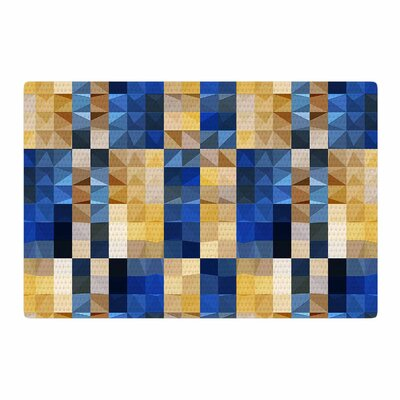Dawid Roc New Stripes Mosaic Blue/Gold Area Rug Rug Size: 4 x 6