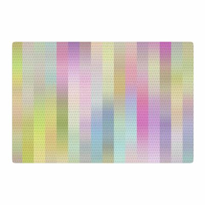 Dawid Roc Sweet Pastel Lines 1 Green/Pink Area Rug Rug Size: 2 x 3