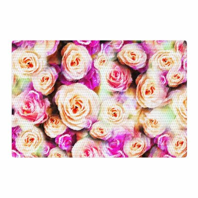 Dawid Roc Sweet Pastel Rose Flowers Floral Pink Area Rug Rug Size: 2 x 3