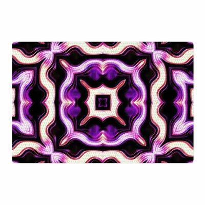 Dawid Roc Vintage Flower Pattern 2 Floral Purple Area Rug Rug Size: 4 x 6