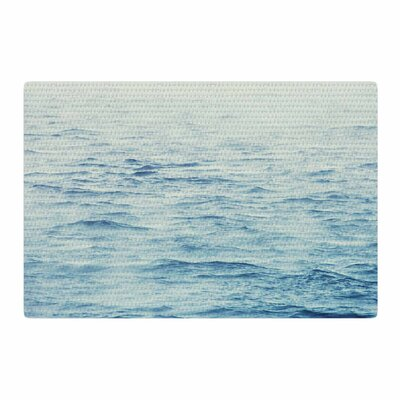 Debbra Obertanec Foggy Morning Ocean Coastal/Blue Area Rug Rug Size: 4 x 6