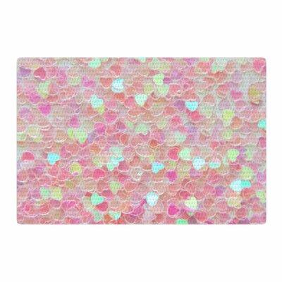Debbra Obertanec Hearts Galore Love Pink Area Rug Rug Size: 2 x 3