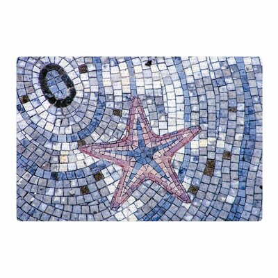 Debbra Obertanec Mosaic Starfish Nautical Blue Area Rug Rug Size: 2 x 3