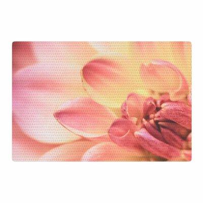 Debbra Obertanec Pastels of Spring Floral Pink Area Rug Rug Size: 2 x 3
