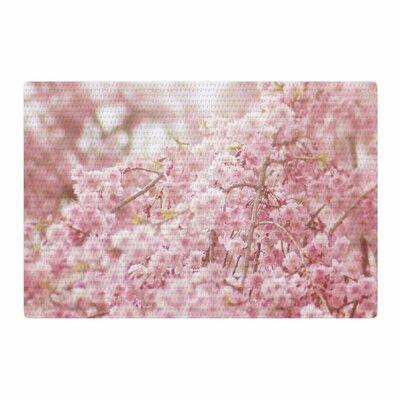 Debbra Obertanec Spring Floral Digital Pink Area Rug Rug Size: 2 x 3