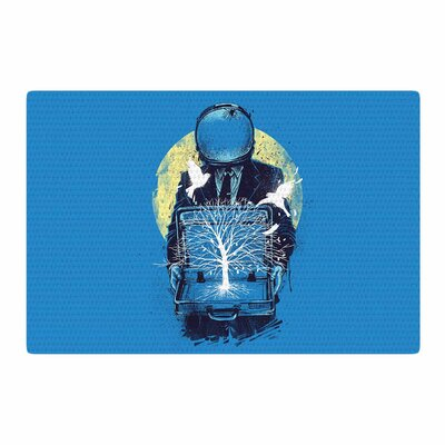 Digital Carbine a New Life Illustration Blue Area Rug Rug Size: 2 x 3