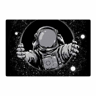 Digital Carbine Hole Fantasy Digital Black Area Rug Rug Size: 2 x 3