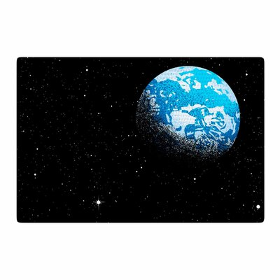 Digital Carbine From the Moon Geological Blue Area Rug Rug Size: 2 x 3