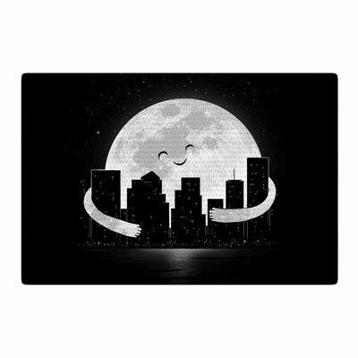 Digital Carbine Goodnight Black/White Area Rug Rug Size: 2 x 3