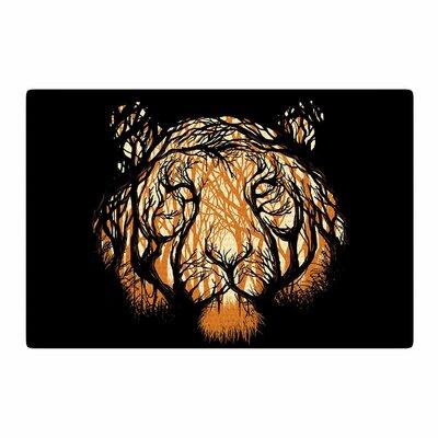 Digital Carbine Hidden Hunter Illustration Orange Area Rug Rug Size: 4 x 6