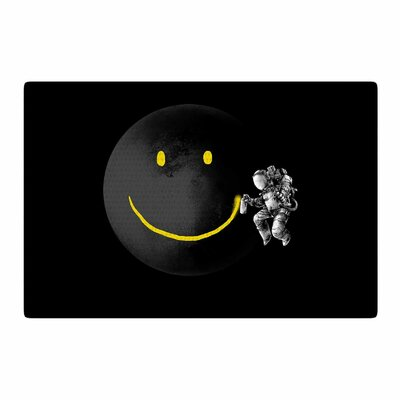Digital Carbine Make a Smile Black/Yellow Area Rug Rug Size: 2 x 3
