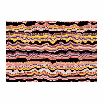 DLKG Design Expressive Lines Illustration Black Area Rug Rug Size: 2 x 3