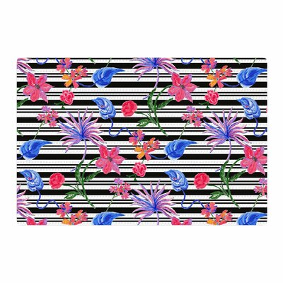 DLKG Design Flower Party Black/Pink Area Rug Rug Size: 2 x 3