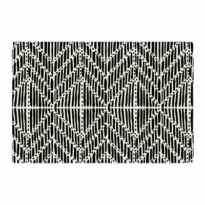 DLKG Design Tribal Drawings Chevron/Black Area Rug Rug Size: 2 x 3