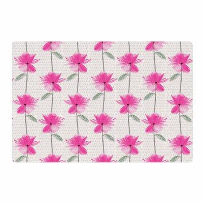 DLKG Design XRay Petals Modern Digital Pink/White Area Rug Rug Size: 2 x 3