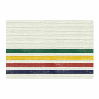 Draper Eagle Scout Stripes Green/Beige Area Rug Rug Size: 4 x 6