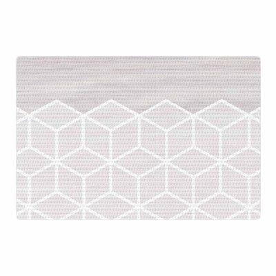 Draper Geo Woodgrain Gray/White Area Rug Rug Size: 2 x 3