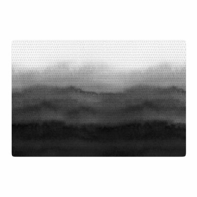 Draper Ombre Ink Wash Gray/Black Area Rug Rug Size: 2 x 3