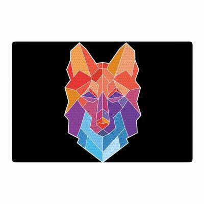 Draper Prism Wolf Orange/Purple Area Rug Rug Size: 2 x 3