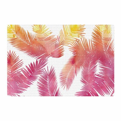 Draper Tropic Love Abstract Pink Area Rug Rug Size: 2 x 3