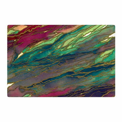 Ebi Emporium Agate Magic Green/Maroon Area Rug Rug Size: 2 x 3