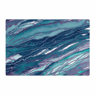 Ebi Emporium Agate Magic Lilac Blue/Lavender/Teal Area Rug Rug Size: 2' x 3'