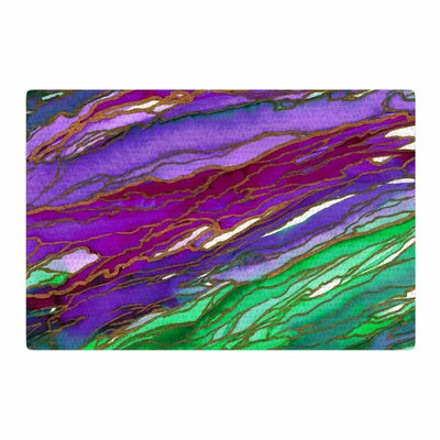 Ebi Emporium Agate Magic Green/Lavender Area Rug Rug Size: 2 x 3