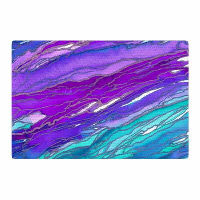Ebi Emporium Agate Magic Aqua/Lavender Area Rug Rug Size: 2 x 3