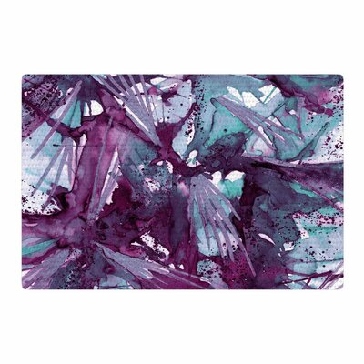 Ebi Emporium Birds of Prey Aqua/Purple Area Rug Rug Size: 4 x 6