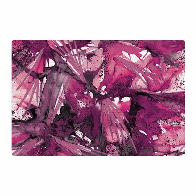 Ebi Emporium Birds of Prey Pink/Plum Area Rug Rug Size: 4 x 6