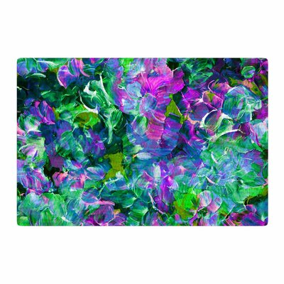 Ebi Emporium Bloom on! Exotic Green/Purple Area Rug Rug Size: 2 x 3