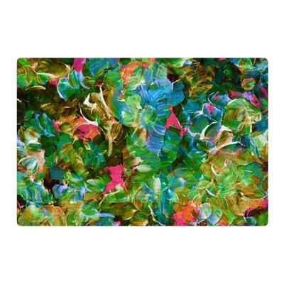 Ebi Emporium Bloom on! Tropical Green/Blue Area Rug Rug Size: 2 x 3