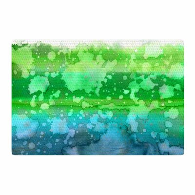 Ebi Emporium California Surf 1 Green/Teal Area Rug Rug Size: 2 x 3