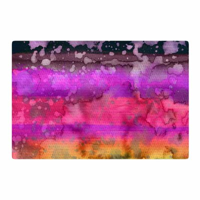 Ebi Emporium California Surf 7 Purple/Black Area Rug Rug Size: 4 x 6