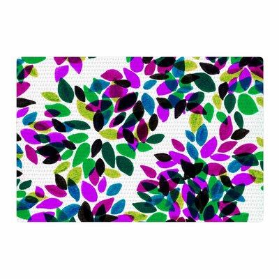 Ebi Emporium Dahlia Dots 2 Purple/Green Area Rug Rug Size: 2 x 3