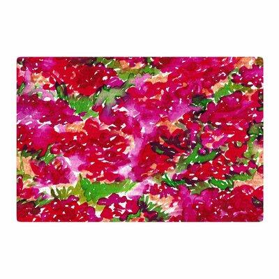 Ebi Emporium Floral Assumption Green/Pink/Red Area Rug Rug Size: 2 x 3