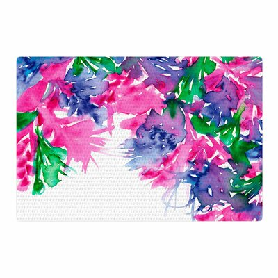 Ebi Emporium Floral Cascade 1 Pink/Green Area Rug Rug Size: 4 x 6