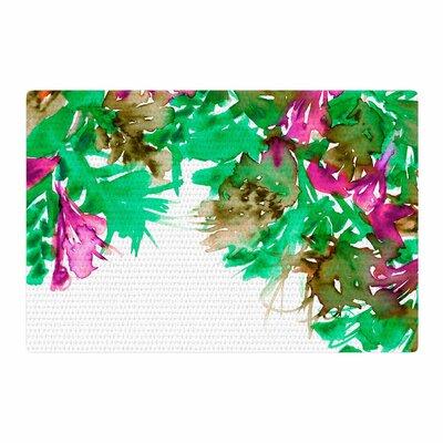 Ebi Emporium Floral Cascade 6 Pink/Green Area Rug Rug Size: 2 x 3