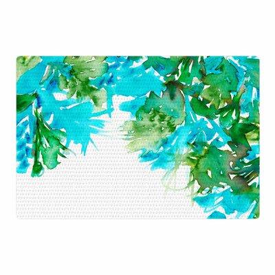 Ebi Emporium Floral Cascade 8 Teal/Green Area Rug Rug Size: 2 x 3