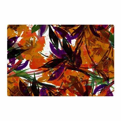 Ebi Emporium Floral Fiesta Floral Painting Orange Area Rug Rug Size: 2 x 3