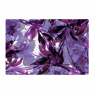 Ebi Emporium Floral Fiesta Watercolor Lavender Area Rug Rug Size: 4' x 6'