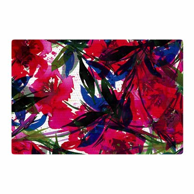Ebi Emporium Floral Fiesta Blue/Maroon Area Rug Rug Size: 4' x 6'