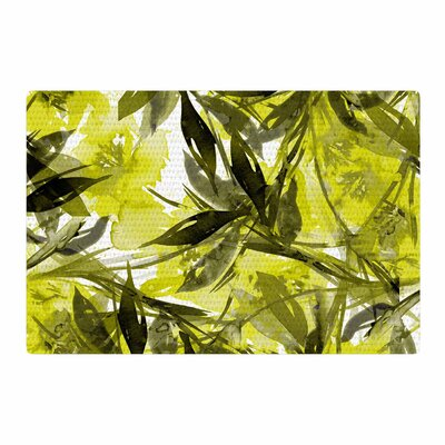 Ebi Emporium Floral Fiesta Floral Painting Yellow Gray Area Rug Rug Size: 4 x 6