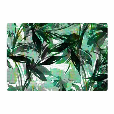 Ebi Emporium Floral Fiesta Watercolor Pattern Green Area Rug Rug Size: 4 x 6