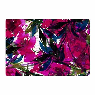 Ebi Emporium Floral Fiesta Watercolor Painting Magenta/Blue Area Rug Rug Size: 4 x 6