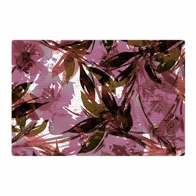 Ebi Emporium Floral Fiesta Pattern Watercolor Mauve/Pink Area Rug Rug Size: 4 x 6