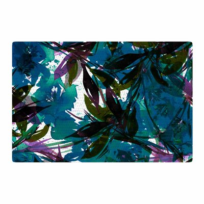 Ebi Emporium Floral Fiesta Watercolor Pattern Teal Area Rug Rug Size: 4 x 6