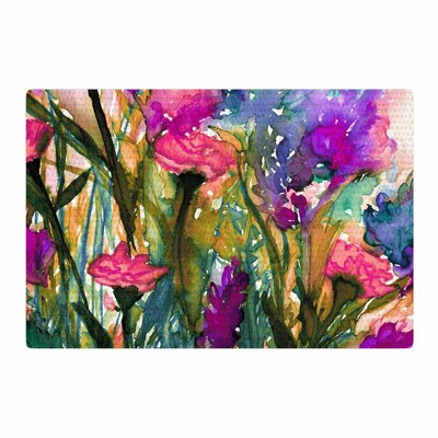 Ebi Emporium Floral Insurgence 3 Green/Pink Area Rug Rug Size: 4 x 6