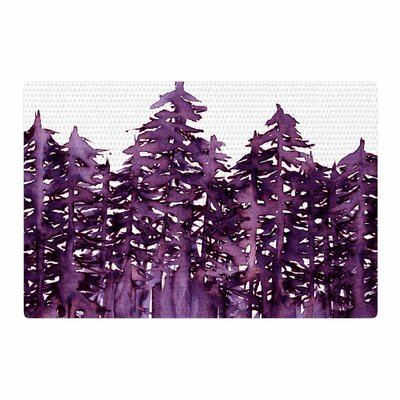 Ebi Emporium Forest Through the Trees 2 Purple/White Area Rug Rug Size: 2 x 3
